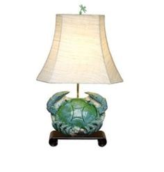 turquoise crab lamp from J Covington Home's online store