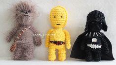 Star Wars Amigurumi: Chebacca, Darth Vader, C-3PO - Patrón Gratis en Español