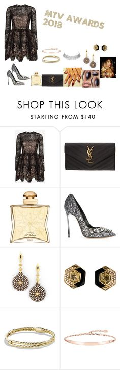 """2018 MTV MUSIC AWARS"" by queenaneisha ❤ liked on Polyvore featuring Alexis, Yves Saint Laurent, Hermès, Casadei, Armenta, David Yurman and Thomas Sabo"