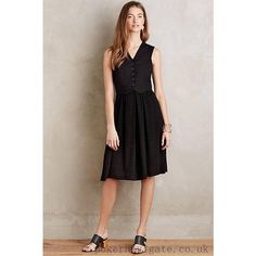 New Anthropologie Neutral Territory Button Dress