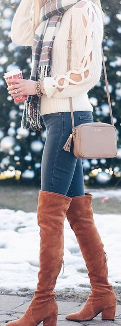Magical #Winter #Outfits I love the cutouts in the arms of this sweater!