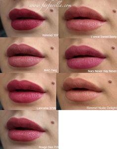 Pin en make up Lilac Lipstick, Fall Lipstick Colors, Mac Lipstick Shades, Fall Lip Color, Lipstick For Fair Skin, Natural Lipstick, Lipstick Swatches, Natural Eye Makeup, Makeup Swatches