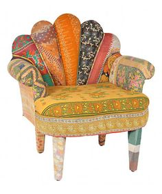 Look what I found on #zulily! Tan & Orange Peacock Chair by Karma Living #zulilyfinds