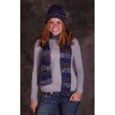 Ribbed Scarf and Hat Set Free Download