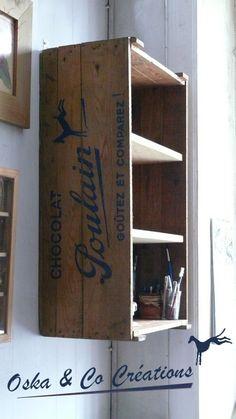 1000 id es sur tag res de caisse en bois sur pinterest tag res palettes - Etagere murale ancienne ...