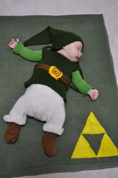 Link Baby! (More nerd babies on page)