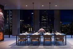 Penthouses for Sale in NYC, Now this is where you throw a Dinner Party, Manhattan All Aglow behind you giving you all he's got!!!.....RR