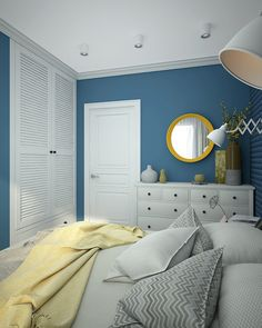 Фотография: Спальня в стиле Скандинавский, Квартира, Проект недели, Зеленоград, Монолитный дом, 3 комнаты, 60-90 метров, Софья Петрухина – фото на InMyRoom.ru