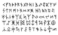 black and white photo of runes - Google Search
