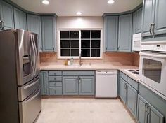 Persian Blue Milk Painted Kitchen Cabinets | General Finishes Design Center