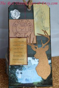 Handmade Outlander Inspired Artist Tag / Bookark: James Alexander Malcom MacKenzie Fraser