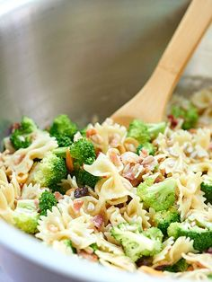 ... broccoli? What could be better? This pasta salad is my go-to summer