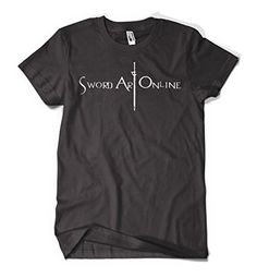Sword Art Online SAO Anime Logo Design Men's Cotton Black T-Shirt joiehappyshop http://www.amazon.com/dp/B00M0ENL14/ref=cm_sw_r_pi_dp_igM6ub0CFWGYJ