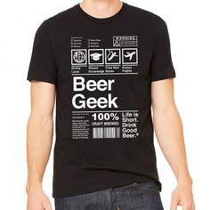 Beer Geek Label Graphic Tee #beergeek #craftbeer #homebrew #homebrewer