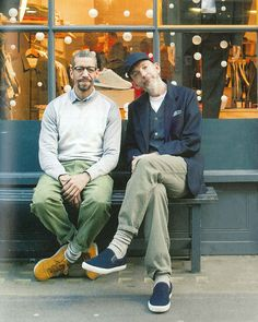 One more from the latest issue of Men's Club Magazine, Japan. UW designer @davidkeyte and head of retail @davidholden46 caught outside our Berwick St store by @8and2