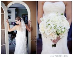 Bride and bouquet.