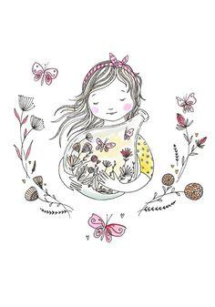 Marieke ten Berge 'A4 Poster Terrarium Butterflies'