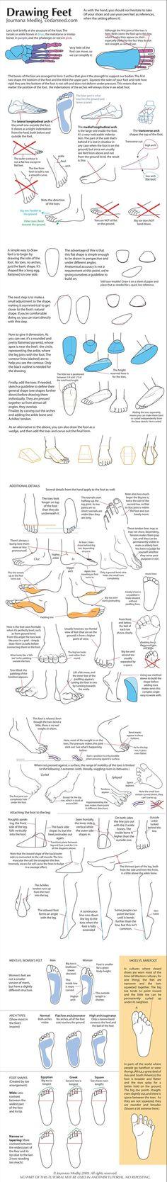 drawing feet: