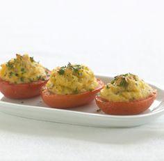 Creamy Polenta-Stuffed Heirloom Tomatoes