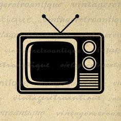 Digital Printable Television Graphic Download TV Image Artwork