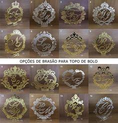 Topo de Bolo Brasão - Acrílico.