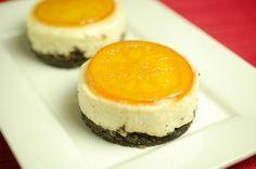 Trek de Cheesecake op een hoger culinair plan. Verras je gasten met deze ronde of vierkante cheesecake met witte chocola, sinaasappel en oreo koekjes