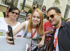 Jamie with a fan at Karlovy Vary
