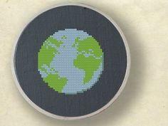 Earth. Cross Stitch Pattern. PDF File. $3.00, via Etsy.