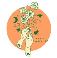 PONY GOLD / ILLUSTRATION / HANDS / ROSES / DRAWING