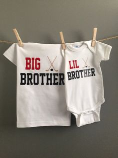 Big Brother/Little Brother Shirts Hockey Shirts by WeeLoveToShop