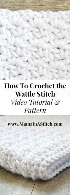 How To Crochet the Wattle Stitch via @MamaInAStitch. This easy crochet stitch creates a beautiful texture. Learn how to crochet it with a video and written free pattern! #tutorial