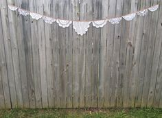 Handmade doily buntings made to order  $30 each