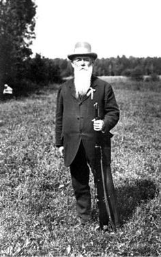 Antwerp 1920: A portrait of Oscar Swahn, the oldest person to win an Olympic medal. At the age of 73, he took the silver in the running deer double shot (team) event in 1920, having won gold and bronze in competitions at the 1908 and 1912 Games