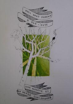 illustration d'haiku aquarelle et feutre fait par joelle roussel