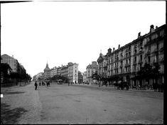 Calle de Alcalá, antes de que se construyese la Gran Vía, entre 1860 y 1886. J. Laurent (1816-1886)