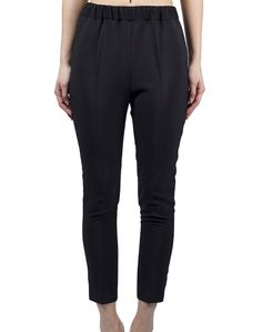 Low-Rise Trousers - Black $104.00  Ankle-length trousers in black, low shot and slightly cased on the inside. 100% Polyester.