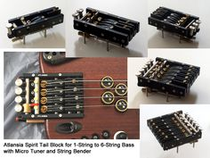 Noble's latest invention - the tremolo bridge that can be stacked to any string configuration. http://atlansiaguitars.com/
