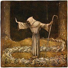 "Illustration by John Bauer for 'Broder Martin' from ""Bland Tomtar och Troll"" (1913)"