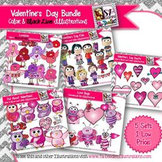 My best Valentine's Day clips all in one bundle and at a discounted price!  Commercial and personal use clip art of Valentine's Day animals, Valentine's Day kids, Love Birds, Love Bugs and Valentine's Day Hearts.