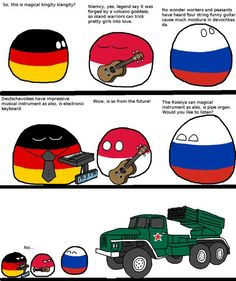 A Magical Instrument (Germany, Poland, Russia) History Jokes, Vs The World, Comic Panels, Country Art, Funny Comics, Funny Images, Funny Jokes, Germany Poland, Communism