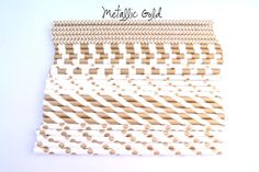 Metallic Gold Decorative Paper Straws for by shopCHERRYsprinkles, $3.99  haha - obsessed. these are great :)