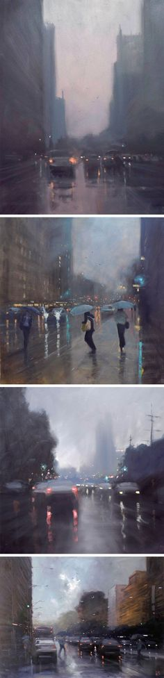 Rainy Australian Cityscapes by Mike Barr