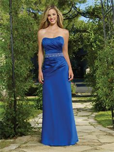 Blue Bridesmaid Dresseses