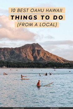 The 10 best Oahu Hawaii things to do, from a local. Oahu itinerary, Oahu Hawaii things to do in, Oahu Hawaii secrets, Oahu hikes, Oahu things to see, Oahu things to do North Shore, Oahu things to do map. #oahu #hawaii #honolulu #itinerary #waikiki #travel #tripideas North Shore Hawaii, Hawaii Usa, Hawaii Travel, Oahu Things To Do, Luxury Travel, Adventure Travel, Travel Inspiration, Travel Photography