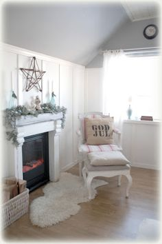 white as linen: christmas mantle