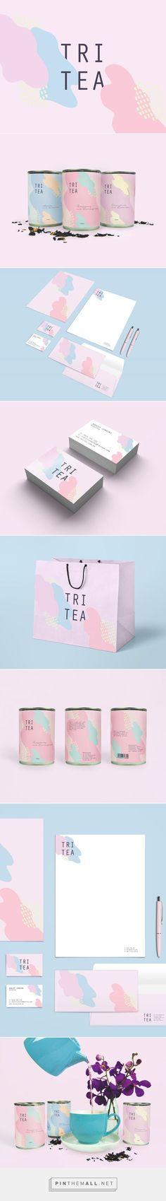Tri Tea Branding and Packaging by Nasia Syrakis Web Design Agency, Graphic Design Branding, Identity Design, Brand Identity, Label Design, Tea Packaging, Brand Packaging, Packaging Design, Corporate Design