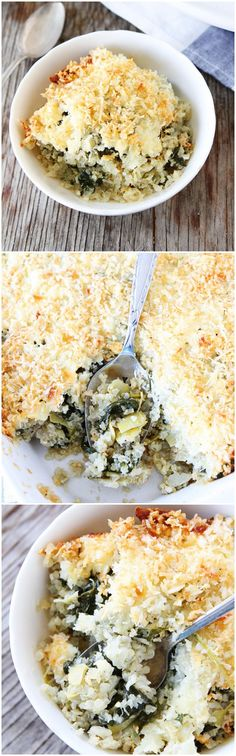 Spinach and Artichoke Quinoa Bake Recipe on twopeasandtheirpod.com Add this recipe to your dinner menu this week! It's a favorite at our house!