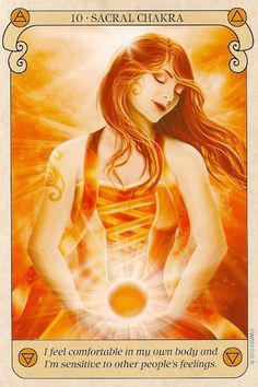 I am comfortable in my own body sacral chakra tarot Third Eye, Sacral Chakra Healing, Ayurvedic Healing, Chakra Meditation, Meditation Music, Mindfulness Meditation, Messages Spirituels, Oracle Tarot, Oracle Deck