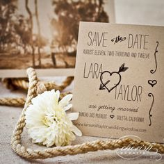 Western Chic Save the Dates