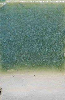 155 155 Xavier's Jade Green Talc 0.09 Whiting 0.16 Custer Potash Feldspar 0.4 Frit 3124 0.09 EPK 0.1 Silica 0.16 Copper Carb 0.03 Rutile 0.06